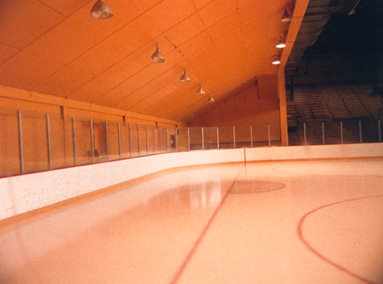 old mariucci sloped wall basketball side